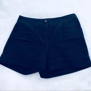 J. McLaughlin Black Diamond Pattern Shorts Sz 2